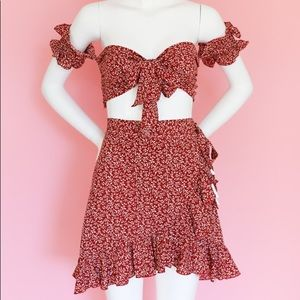 Floral Summer Dress Two-piece